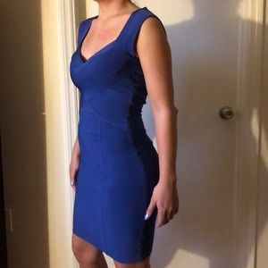 Guess Blue bandage dress